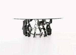 COLISÉE - Table à manger IPN métal brut vernis - IPNOZE