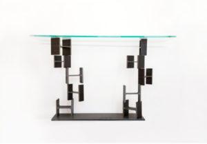 CONSOLE - Table Console Verre et pieds IPN - IPNOZE