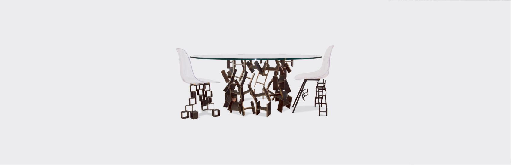 Composition Table COLISÉE et chaises L'ASSISE - IPNOZE