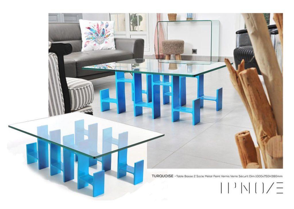 LA TURQUOISE - table basse pieds IPN Turquoise - IPNOZE