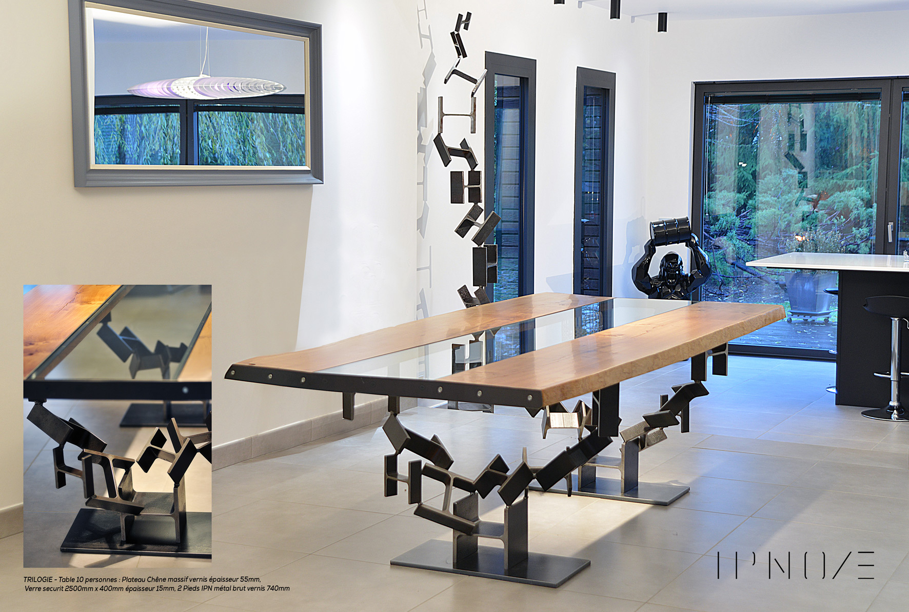 TOTEM HAUT - Sculpture composée de 12 éléments IPN & TRILOGIE - IPNOZE