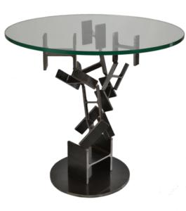 TULIPE vue B - table à manger ronde - Marque IPNOZE - Lionel PELLEGRINA