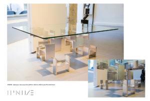 Table CHROME - Table basse - IPN métal chromé - IPNOZE